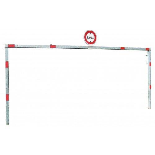 Brama obrotowa jednoramienna długość 500 x 220 cm