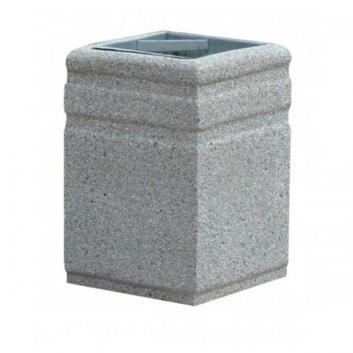 Kosz betonowy kwadratowy 40l 45x60 cm na śmieci miejski ogrodowy