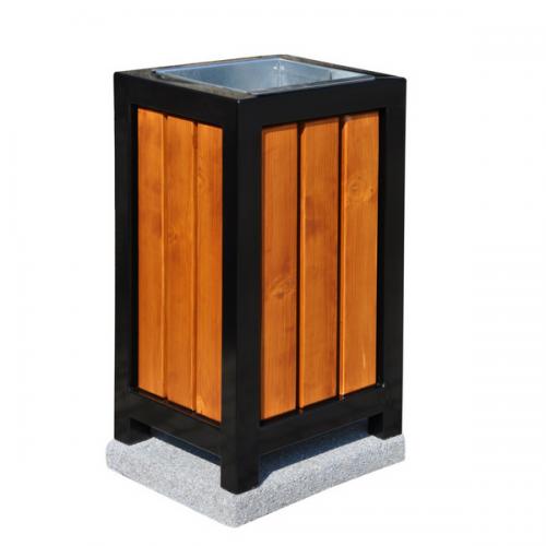 Kosz metalowo-drewniany kwadratowy 70 l litrów 87x47x49