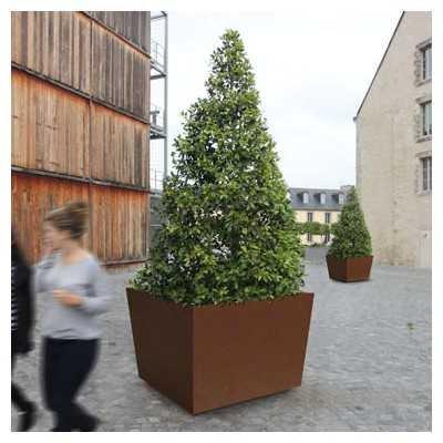 Donica miejskia ogrodowa na drzewa duża metalowa Olbia