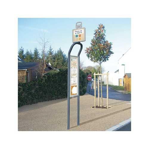 Totem z oznaczeniem przystanku autobusowego