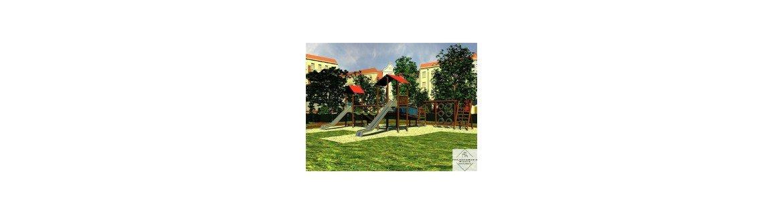 Zestawy rekreacyjne dla dzieci zewnętrzne z atestami